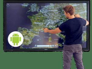 Acheter ecran en verre interactif pas cher