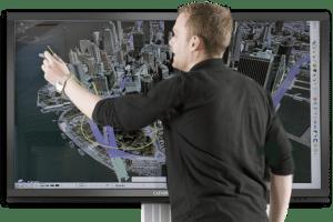 Utiliser un ecran interactif arret de bus