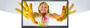 Ecran interactif / tactile en gare pas cher